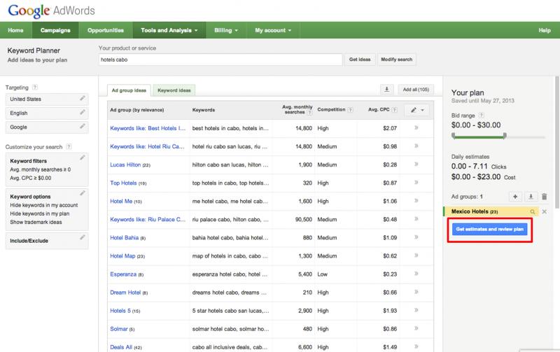 Cara Riset Keyword Google Keyword Planner